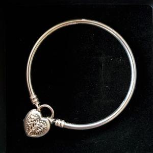 Pandora flourishing heart padlock